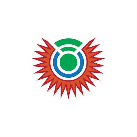 abstract sun network logo