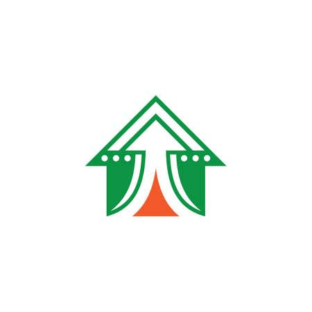 house arrow business finance logo Ilustração