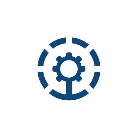 circle gear industrial logo Ilustração