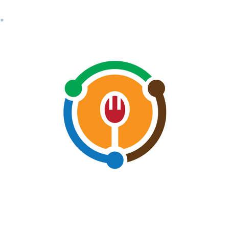 circle fork restaurant logo
