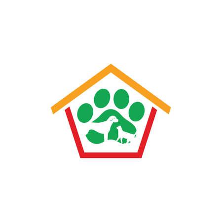 house pet shop care logo