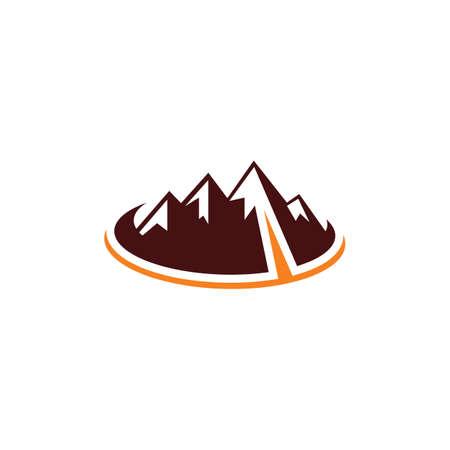 mountain hiking adventure logo Ilustração