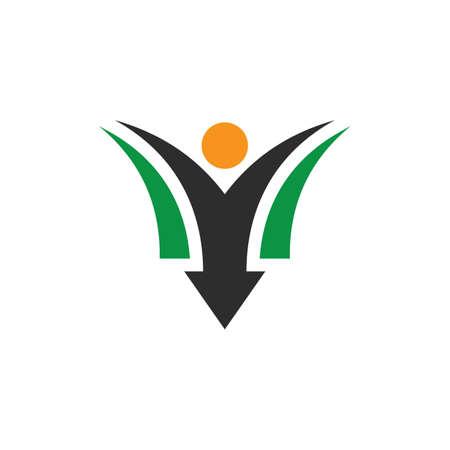 people arrow business finance logo