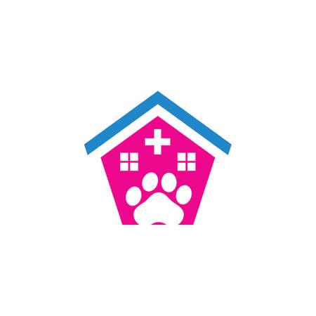 pet shop care clinic logo Ilustração
