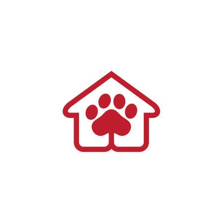 pet shop logo Ilustração