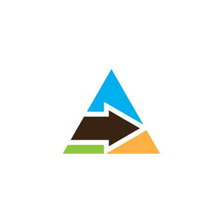 triangle arrow business logo Ilustração
