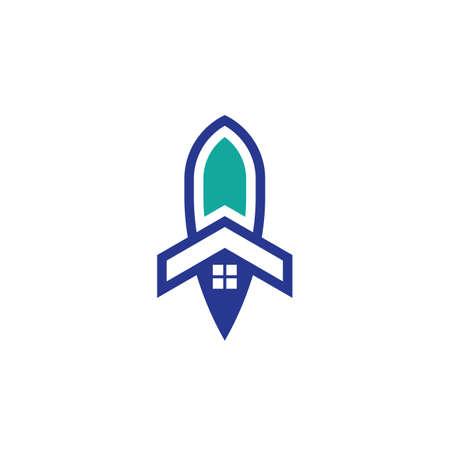 house rocket business logo