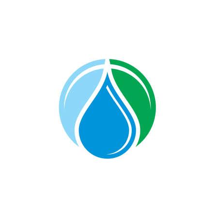 Water drop liquid eco logo Ilustração