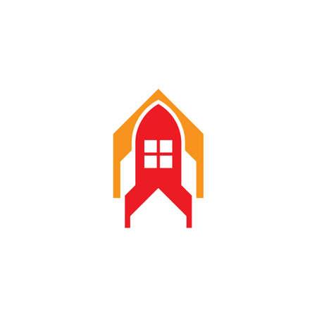 House Rocket logo vector