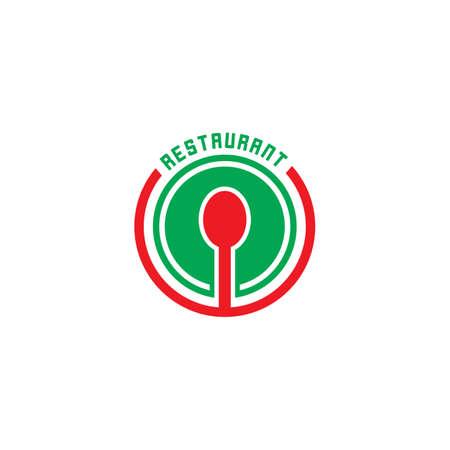 circle spoon restaurant logo vector