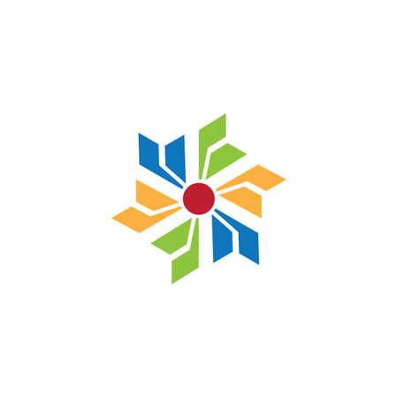 abstract spin business logo Ilustração