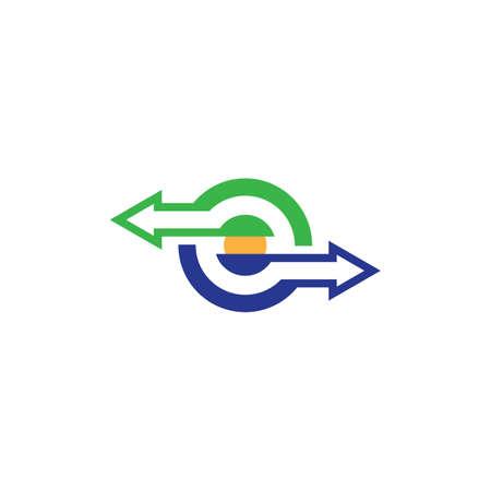 business circle arrow logo