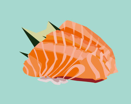 fresh sashimi can bring you out from your head, yummy Stock Illustratie