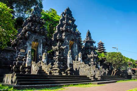 Pura Goa Lawah, Klungkung Bali Stock Photo