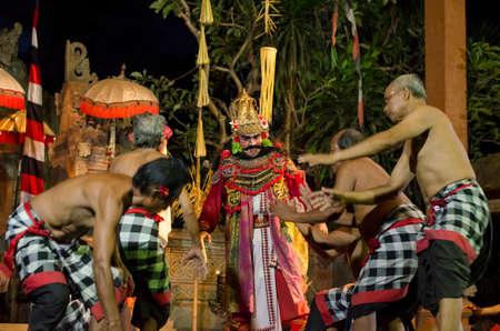 Kecak and Barong Fire Dance Show near Batubulan, Sukawati, Gianyar, Bali, Indonesia