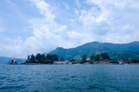 Panoramic view of Lake Toba in North Sumatra Indonesia