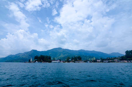 Panoramic view of Lake Toba in North Sumatra Indonesia