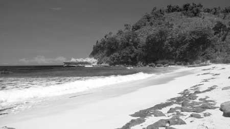 Sanggar Beach in Black and White - Tulungagung, East Java, Indonesia