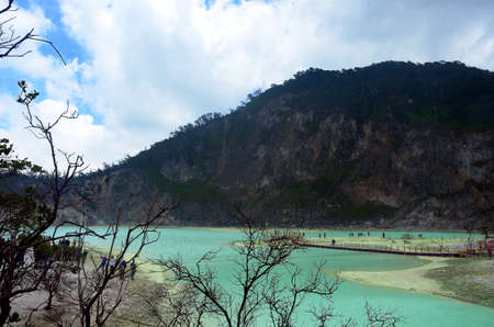 lake in mountain - Kawah Putih, Ciwidey, Bandung, West Java, Indonesia