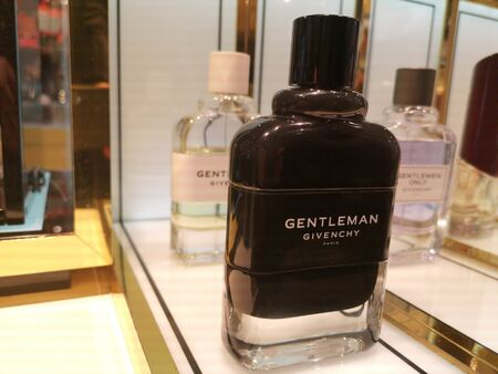Male aroma of Cologne Eau de Parfum Givenchy at Perfume and Cosmetics Store on February 10, 2020 in Russia, Tatarstan, Kazan, Pushkin Street 2. Editorial