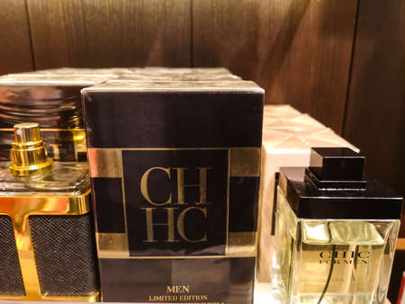 Cologne for men CHHC Men Limited Edition Carolina Herrera and in perfume and cosmetics store on February 10, 2020 in Russia, Tatarstan, Kazan, Pushkin Street 2.