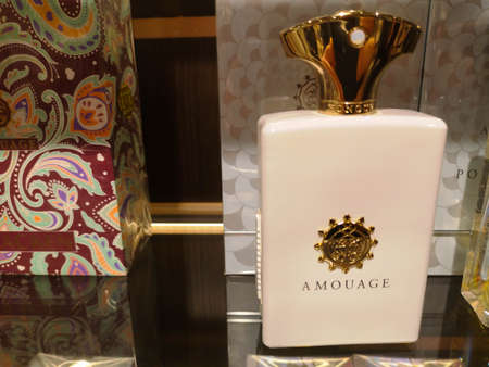 Cologne East for Men Honor Man Amouage by Oman Perfumery at Perfume and Cosmetics Store on February 10, 2020 in Russia, Tatarstan, Kazan, Pushkin Street 2.