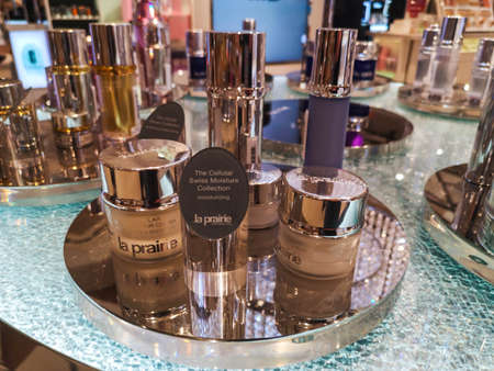 Face care kit for all skin types for men and women La Prairie The Swiss Moisture Collection at Perfume and Cosmetics Store on February 25, 2020 in Russia, Tatarstan, Kazan, Pushkin Street 2