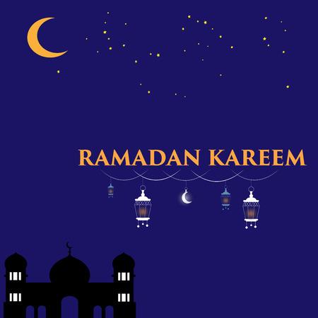 Ramadan Kareem Night Background
