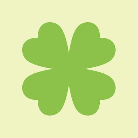 Four Leaf Green Clover Icon Flat Logo Vector Reklamní fotografie - 151131287