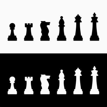 Chess Pieces Silhouette Vector Illustration Archivio Fotografico - 151355593