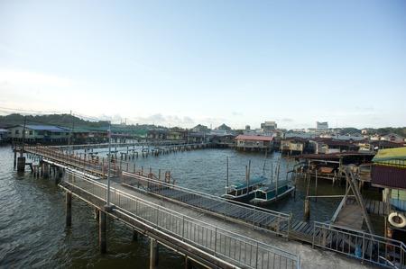 kampung: Kampung Ayer or Water Village in the city of Bandar Seri Begawan, Brunei Darussalam
