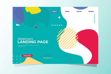 Vector illustration Geometric background landing page, very good for business web background etc.eps10