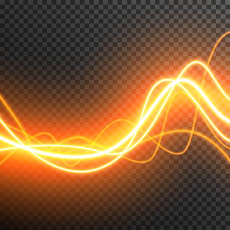 Lighting Electric thunder storm glow sparkle vector transparent