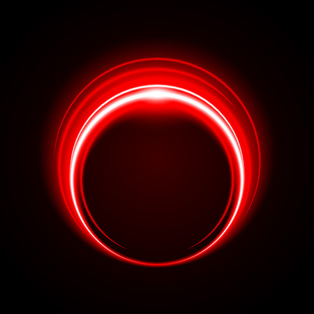 Abstract Circle Light Red Frame vector background Illustration
