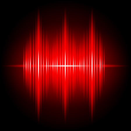Abstract Red Light Effect electronic wave music vector background