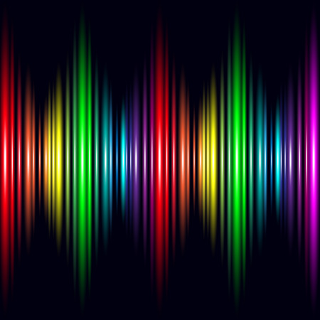 Abstract Rainbow Light Effect electronic wave music vector background Illustration