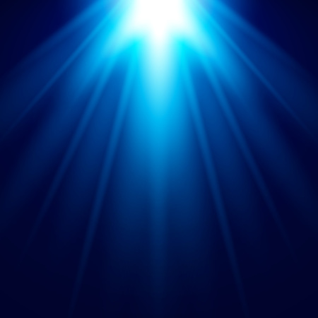 Abstract Blue Light Effect with shine bright vector background Illustration