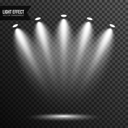 Spotlight illumination, bright light, stage, podium vector transparent