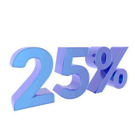 3d percentage Percent off. Discount Template. 3D illustration on white background. 写真素材