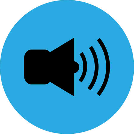 sound icon vector, Player navigation button. Audio setting concept. Symbols, Sign isolated on white background. Flat design