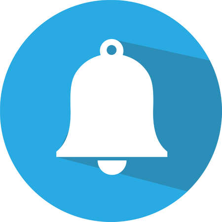 Bell Icon in trendy flat style isolated on grey background. Notification symbol for your web site design, logo, app, UI. Vector illustration, EPS10.