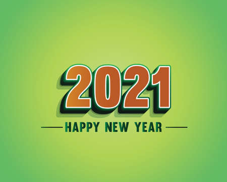 Happy New Year 2021 background template. Merry Christmas and Happy New Year holiday symbol template.  イラスト・ベクター素材
