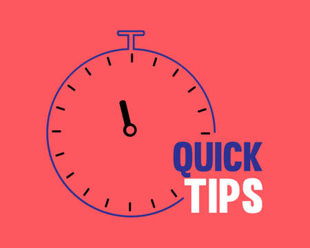 Quick tips line icon. Helpful tricks sign. Tutorials with timer symbol. Colorful outline concept.Quick tips Vector.