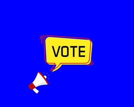 vote speech bubble with Loudspeaker Vector illustration.