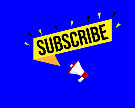subscribe banner. subscribe speech bubble