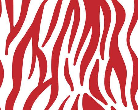 pattern texture tiger zebra white red stripe repeated. vector illustration, zebra stripes pattern