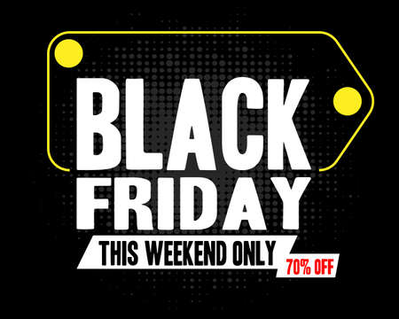 black friday special offer super sale poster shopping flyer holiday promotion hot price discount concept flat vector illustration Vecteurs