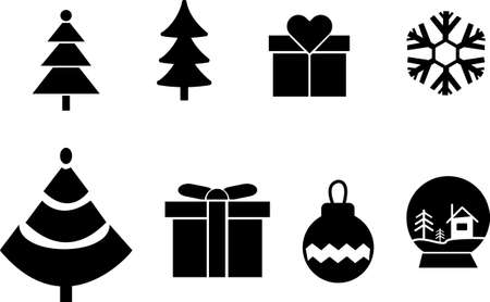 Set of winter related vector icons. Premium linear symbols pack. Vector illustration isolated on a white background. Web symbols for websites and mobile app. Trendy design.