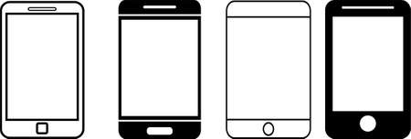 Smart phone icon in trendy flat style isolated on white background.