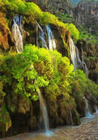 sectarian: Landscape of Iraqi Kurdistan Stock Photo